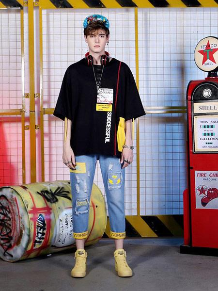 闪电潮牌 - FRAGMENT DESIGN男装品牌2019春夏新款韩版潮流宽松短袖t恤