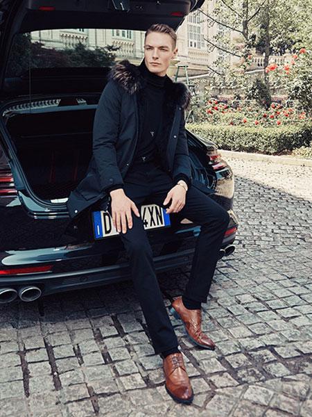 贝克狮丹男装品牌2019秋冬新款很难时尚宽松休闲羽绒服外套