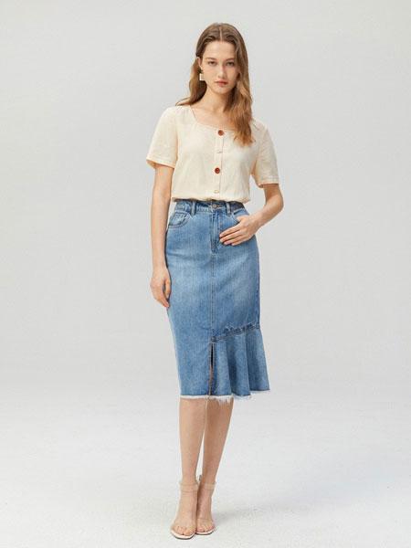 EIFINI伊芙丽女装品牌2019春夏薄款洋气气质上衣一字肩宽松韩版衬衫