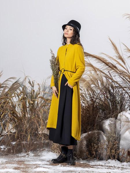 弗蔻Fu Kou女装品牌2019秋季新款时尚气质宽松显瘦连衣裙