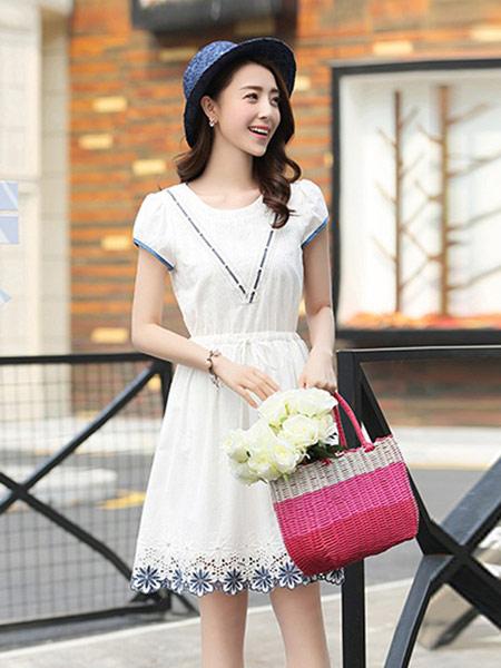 DAKA TRIP女装品牌2019春夏新款新款韩版百搭显瘦甜美连衣裙