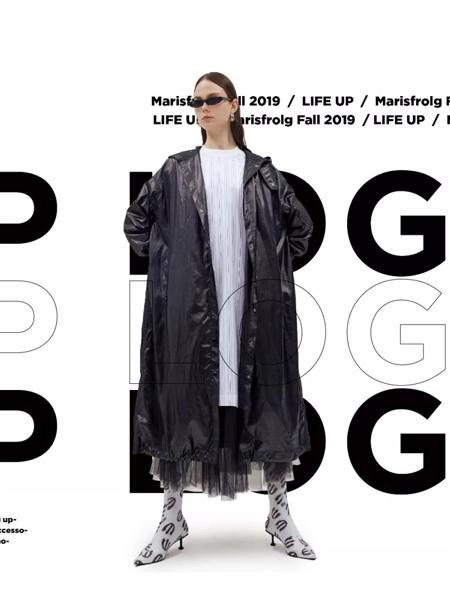 Masfer.SU女装品牌2019秋季新款时尚简约个性纯色中长款风衣