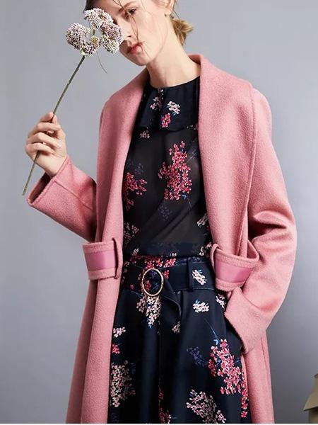 俏帛女装品牌2019秋季新款时尚宽松休闲百搭中长款外套