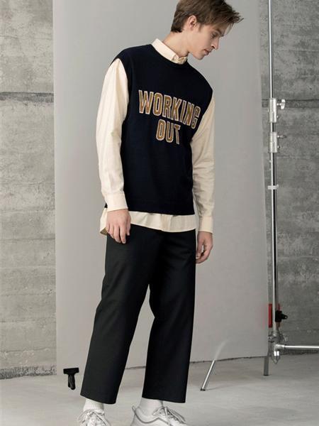 Cabbeen卡宾男装品牌2019秋季新款潮韩版宽松长袖拼接卫衣