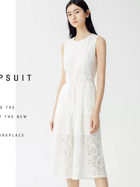 曼娅奴女装品牌2019春夏新款时尚小清新中长蕾丝连身裤