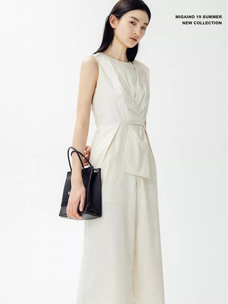 曼娅奴女装品牌2019春夏新款潮无袖收腰显瘦连体裤
