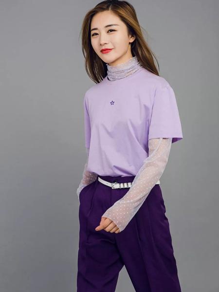 允硕女装品牌2019秋季新款宽松显瘦短袖休闲纯棉上衣百搭大码T恤