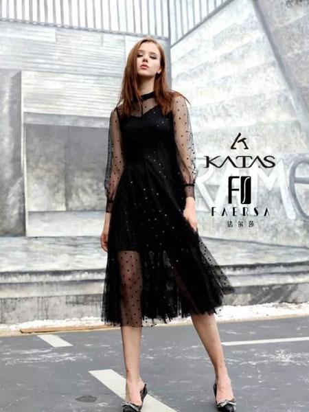 卡塔女装品牌2019秋季新款温柔气质网纱甜美长裙子小香风雪纺连衣裙