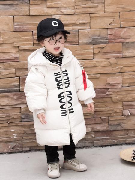 波波龙童装品牌2019秋冬新款韩版儿童宽松加厚连帽时尚外套