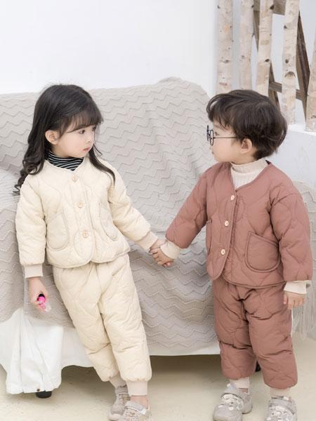 波波龙童装品牌2019秋冬夹棉保暖家居服男小童加厚潮衣