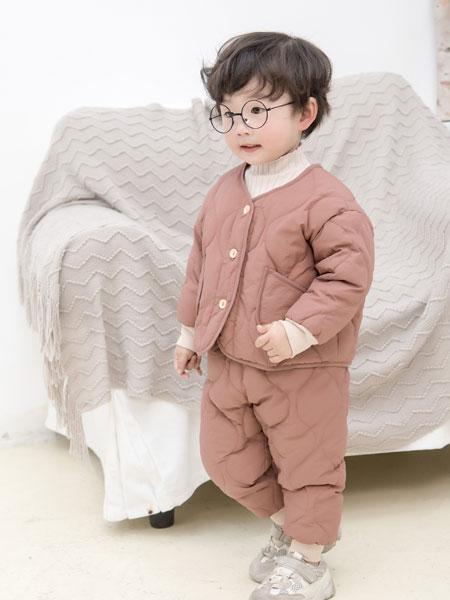 波波龙童装品牌2019秋冬男童加厚套装洋气棉衣