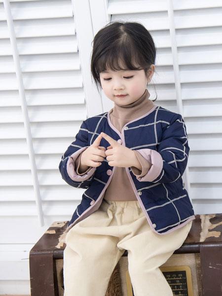 波波龙童装品牌2019秋冬薄款v领长袖纽扣开衫毛衣外套