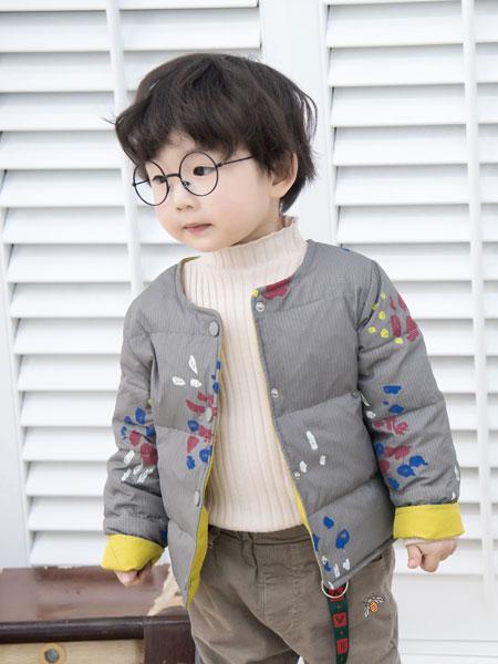 波波龙童装品牌2019秋冬加厚棉服男童上衣外套