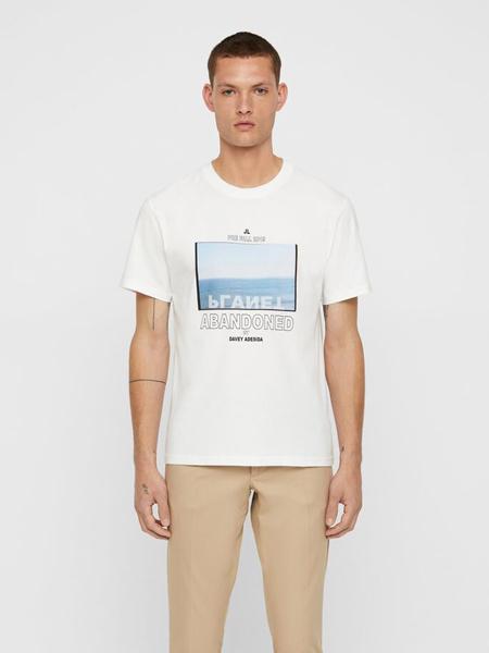 金林德伯格男装品牌2019春夏新款时尚修身简约休闲百搭圆领短袖T恤