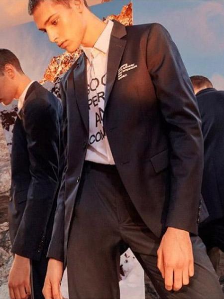 安正男装品牌2019秋季新款韩版时尚宽松百搭西服套装