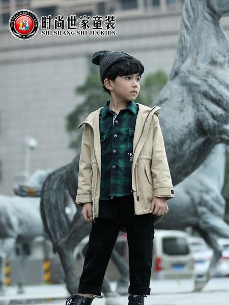 时尚世家童装品牌2019秋冬新款儿童韩版洋气男孩连帽