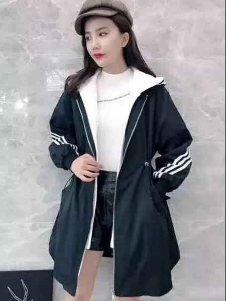 MISS ONE女装品牌2019秋季新款宽松显瘦百搭流行外套风衣休闲中长款