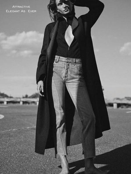 壹麦娇迪女装品牌2019秋季新款韩版时尚休闲中长薄款宽松风衣外套