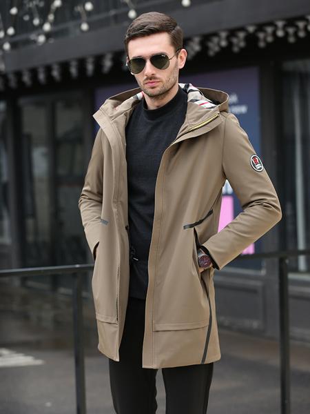 萨卡罗S.ALCAR男装品牌2019秋冬新款韩版潮流棉服中长款外套
