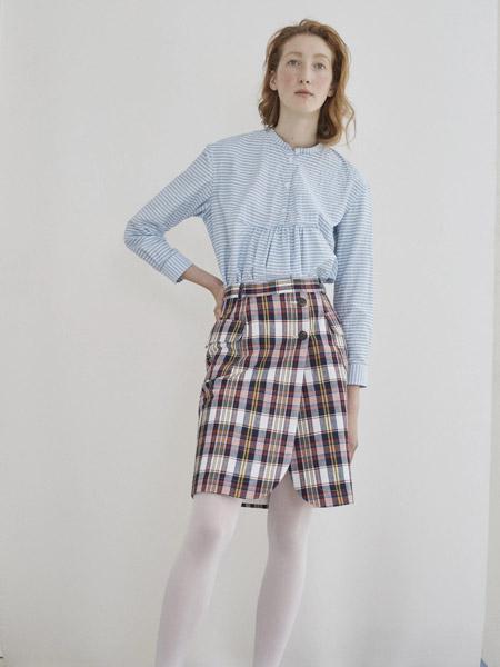 彼得・詹森女装品牌新款宽松韩版气质格子衬衫