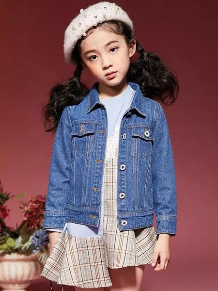 玛玛米雅童装品牌2019秋季女童短款全棉牛仔外套中大童修身牛仔衣