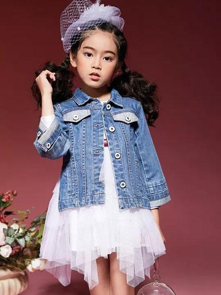 玛玛米雅童装品牌2019秋季洋气女童新款中大童刺绣牛仔衣