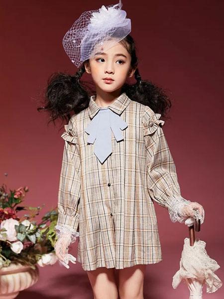 玛玛米雅童装品牌2019秋季新款韩版时尚气质格子休闲外套潮