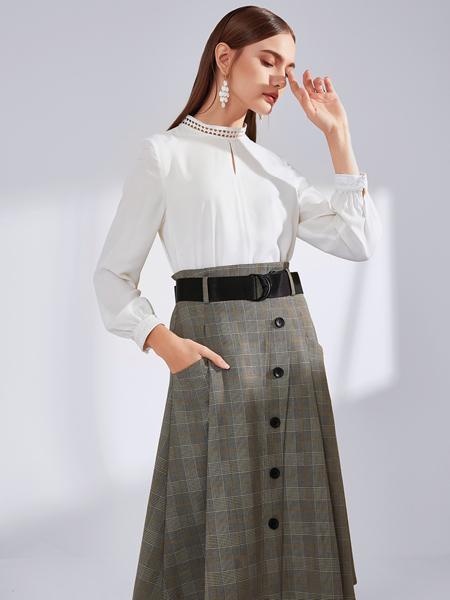 真斯贝尔女装品牌2019秋冬新款洋气衬衣百搭韩版宽松仙女范文艺时尚雪纺白衬衫