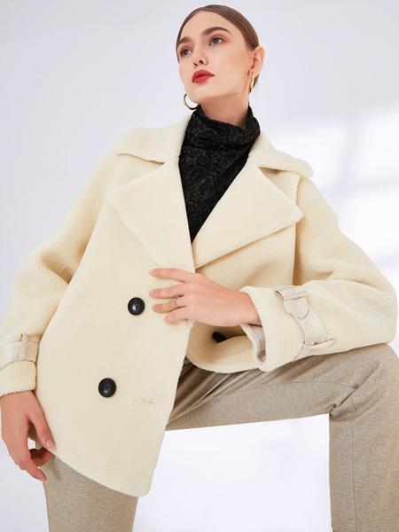 真斯贝尔女装品牌2019秋冬新款简约时尚潮流百搭外套