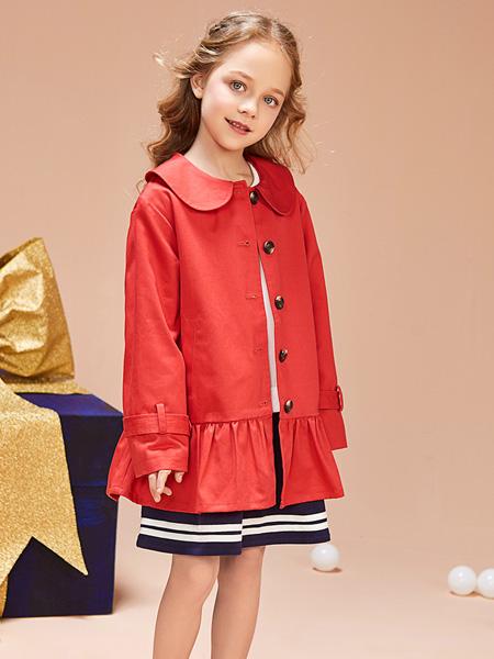 红蜻蜓童装品牌2019秋季新款韩版气质中长款外套