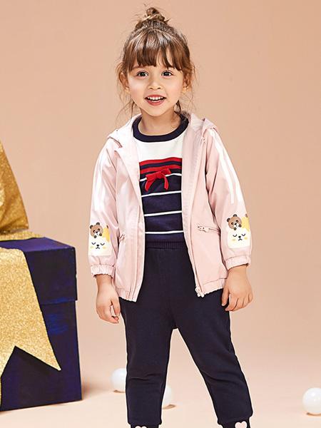 红蜻蜓童装品牌2019秋季新款韩版时尚洋气中长款外套