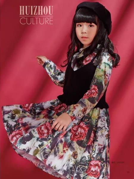 JOJO童装品牌2019秋季新款百搭修身弹力圆领长袖中长款连衣裙
