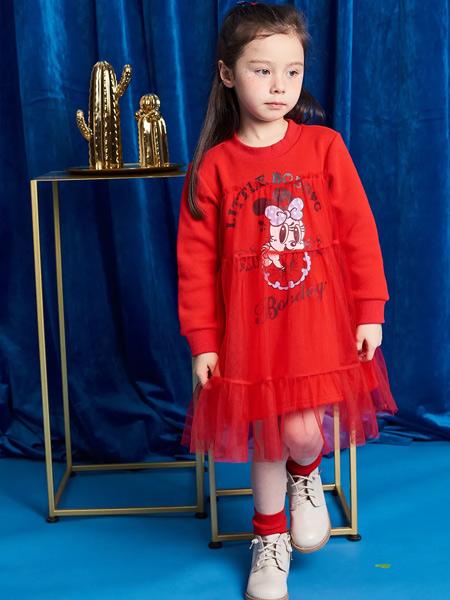 贝贝王国童装品牌2019秋冬新款洋气蕾丝网纱裙公主裙