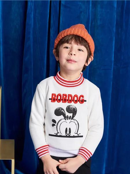 贝贝王国童装品牌2019秋冬新款韩版圆领套头印花上衣宽松显瘦打底衫