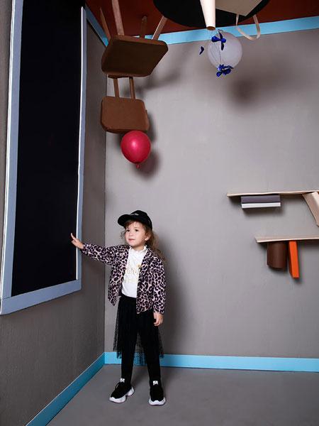 pencilmini迷你铅笔童装品牌2019秋季新款时尚韩版开衫休闲运动套装