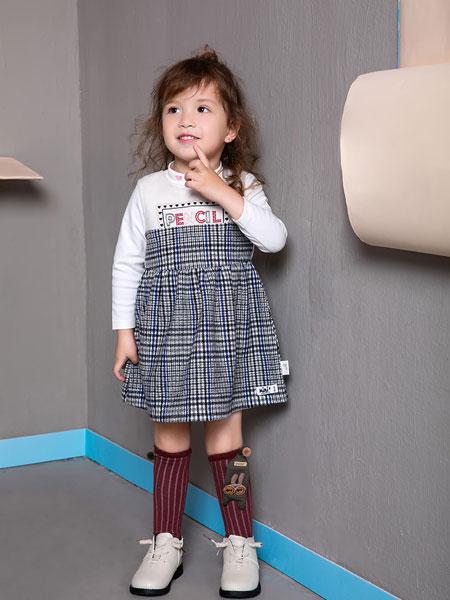 pencilmini迷你铅笔童装品牌2019秋季女童中大童长袖上衣套头衫 套装