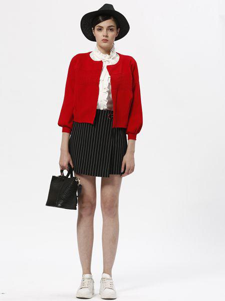 欧伊芮诗ZOEIRIS女装品牌2019秋季新款韩版纯色针织外套