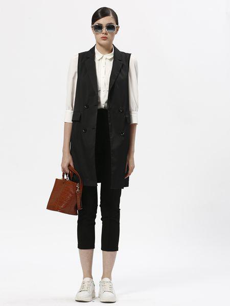 欧伊芮诗ZOEIRIS女装品牌2019秋季新款韩版无袖西装外套韩版修身显瘦背心马夹