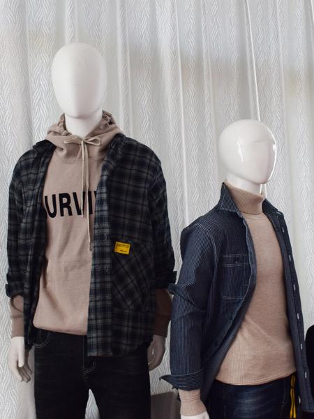 印自男装男装品牌2019秋季新款韩版舒适长袖宽松百搭外套