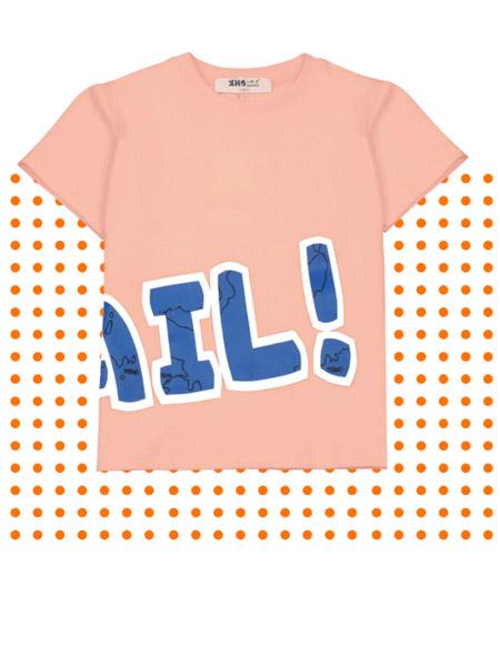 小红豆童装品牌2019春夏新款韩版宽松纯棉短袖T恤
