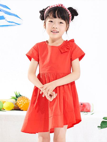 小红豆童装品牌2019春夏新款韩版洋气露背公主裙