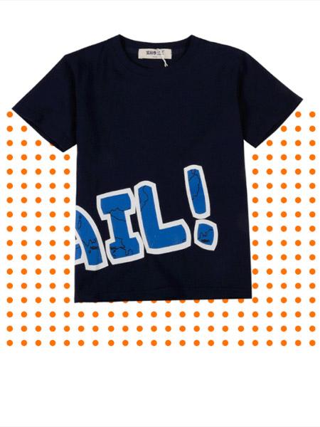 小红豆童装品牌2019春夏新款韩版圆领纯棉短袖T恤