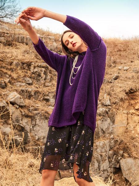 浩洋国际女装品牌2019秋冬新款针织衫宽松套头毛衣