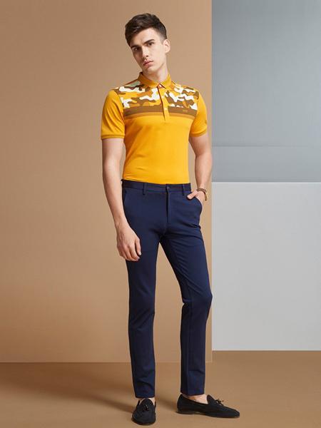 步森男装品牌2019春夏新款休闲短袖polo衫透气T恤上衣