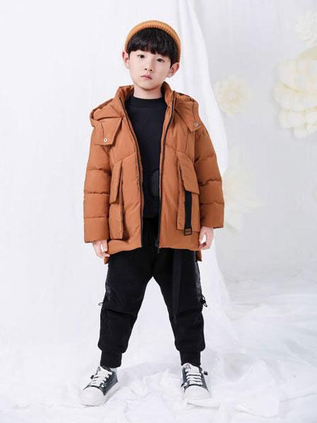 宠来宠趣童装品牌2019秋冬中长款加厚童装洋气棉衣外套