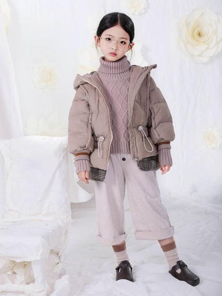 宠来宠趣童装品牌2019秋冬新款外抽绳收腰韩版羽绒外套