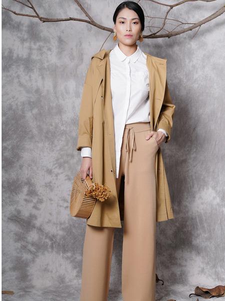 底色女装品牌2019秋季新款时尚韩版气质宽松中长款风衣外套