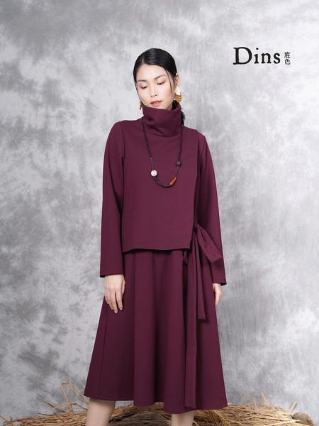 底色女装品牌2019秋季新款韩版修身显瘦纯色长袖气质中长款针织连衣裙