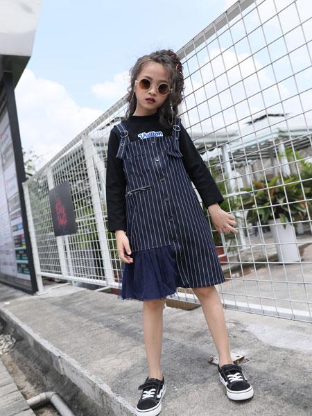 拉斐贝贝童装品牌2019秋季新款时尚修身洋气两件套