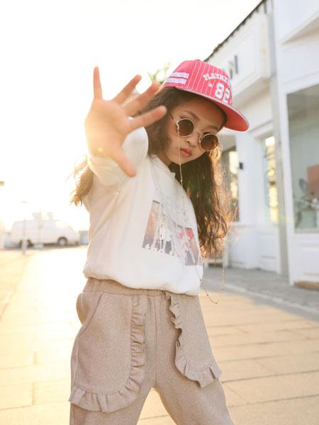 拉斐贝贝童装品牌2019秋季洋气时髦中大童韩版短袖两件套潮